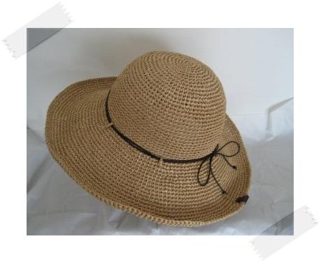 エコアンダリヤの帽子 #23 つば広