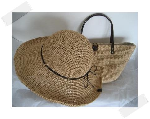 エコアンダリヤのバッグ&帽子 #23
