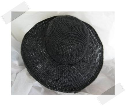 エコアンダリヤ#30ブリムが広い帽子2
