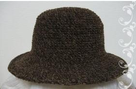モールの帽子 こげ茶