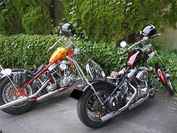 mino_panとロックショベルさんバイク