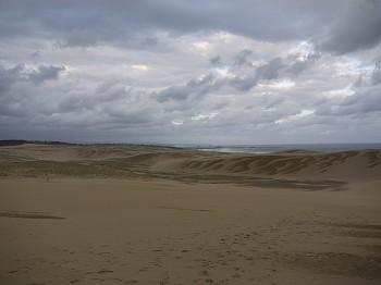 見渡す限り砂ですね。