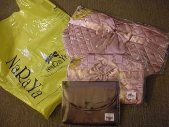 NA・RA・YAのシルク鞄