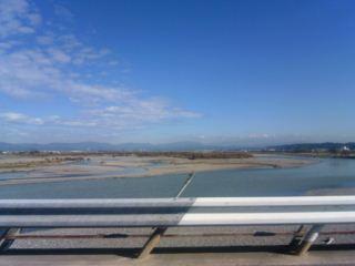天竜川を移動