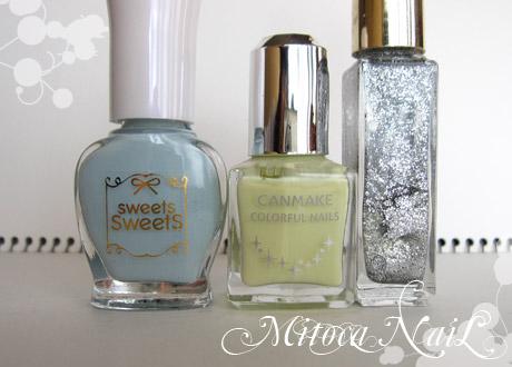 sweets sweets NL8 ソーダ/キャンメイク#11 レモンクリーム/シルバーラメ