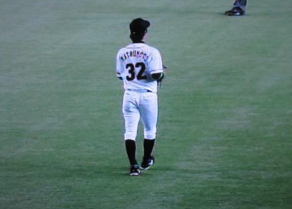 8回表、センターカメラから見た松本選手