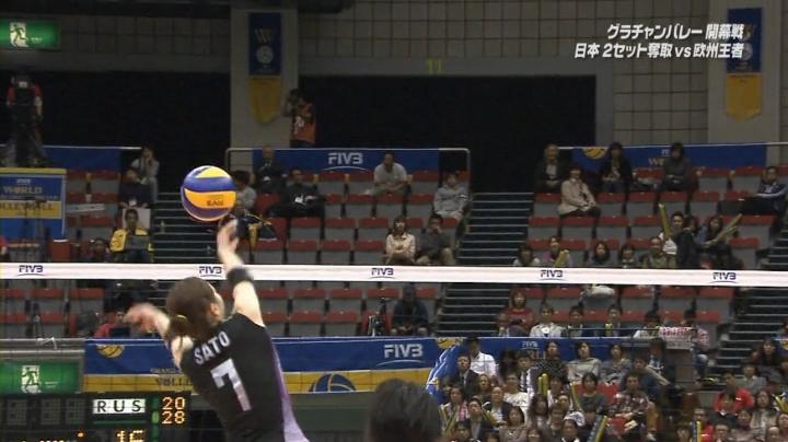 2013年グラチャンバレー、佐藤あり紗選手が珍プレー…イヤ、スーパープレー!!+おまけ