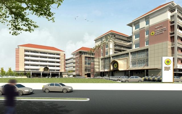 マタラム大学医学部付属病院完成図