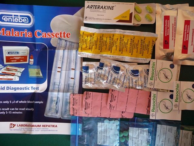 マラリア予防薬+検査キット
