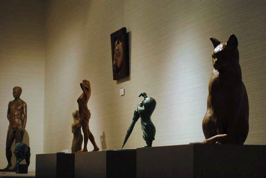 松田光司彫刻展の様子(渋谷東急本店にて) 撮影 松田光司