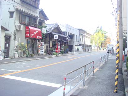国道より和光寺を見る