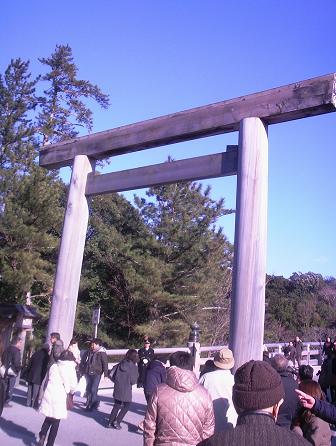 近く式年遷宮が行われる伊勢神宮の鳥居