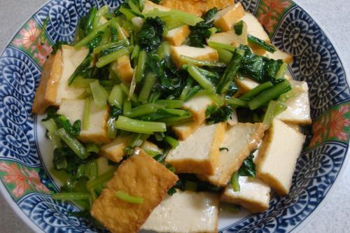 100717-030厚揚げと小松菜の炒め煮(縮小)