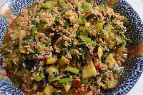 100815-010豚挽肉と小松菜と茄子の炒め(縮小)