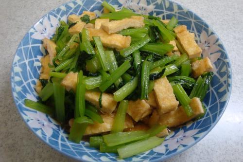 101009-030小松菜と油揚げの煮びたし(縮小)