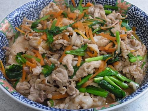 110326-010豚肉と野菜の焼肉のたれ炒め(縮小)