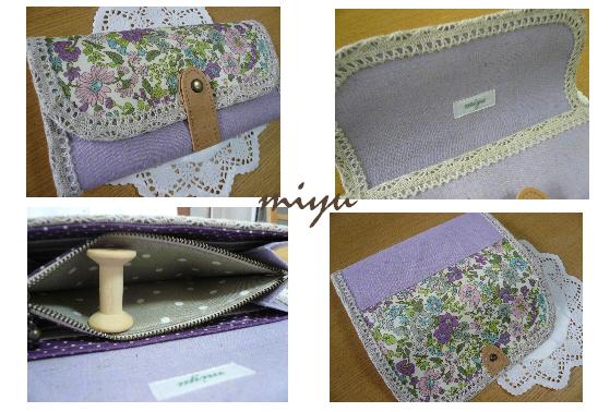 長財布(エミリー・紫×薄紫)2