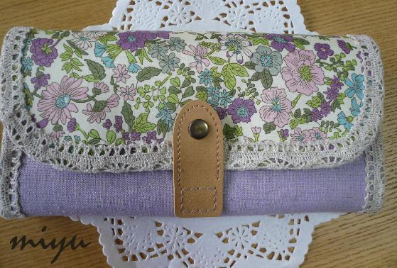 長財布(エミリー・紫×薄紫)1