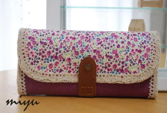 長財布(フィービー紫×葡萄)1