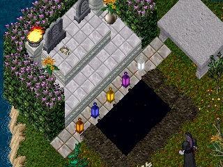 朝のお墓。