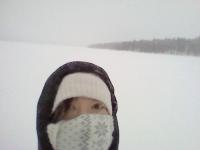 ぼっち吹雪まつ毛凍る-30℃