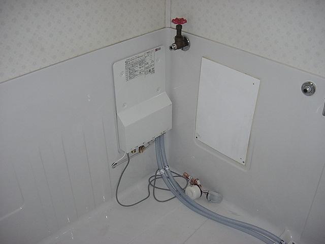ホールインワンタイプ給湯器設置