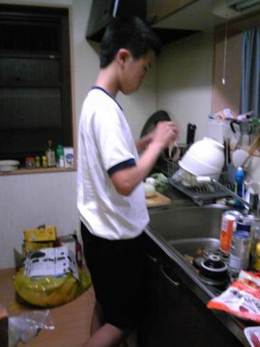 台所のお兄ちゃん