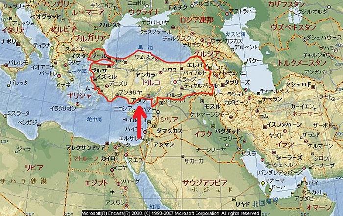 地図トルコ