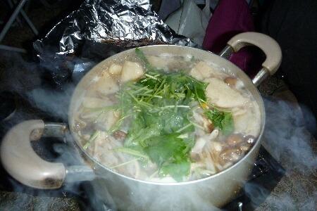せんべい鍋、完成