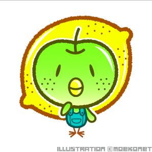 梨鳥レモン・イラスト