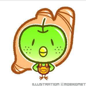 梨鳥ショウガ・イラスト