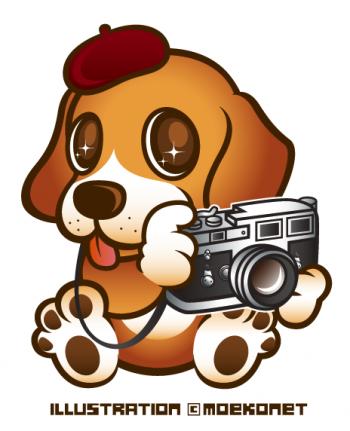 ビーグル犬キャラクターイラスト