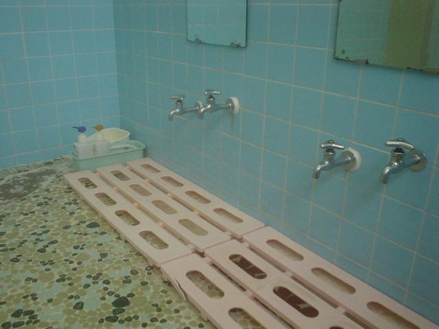 洗い場もシンプルね