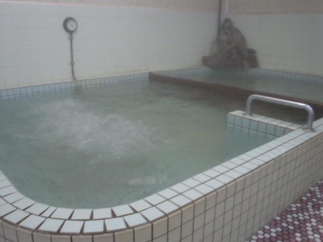 奥の浴槽は加温でけっこう熱め