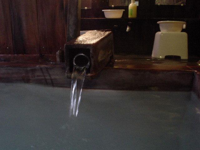 上の湯湯口
