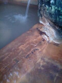 浴槽淵の成分層