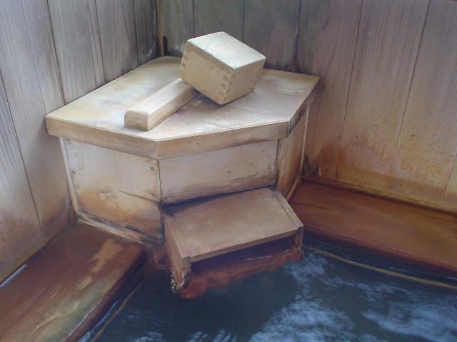 湯口は木箱型