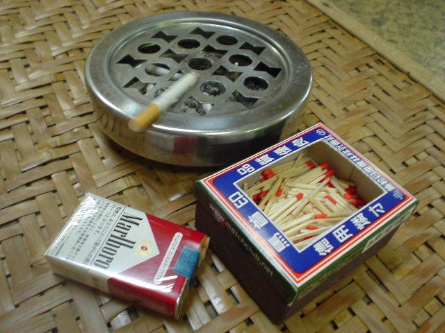 マッチで火を点けるタバコが好きです!
