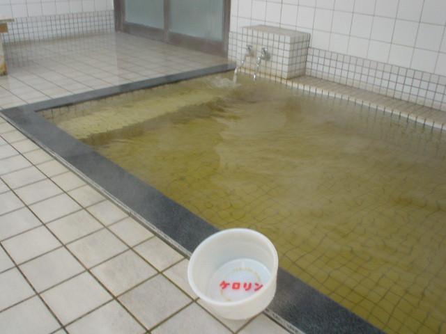浅めの露天浴槽