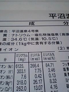 平沼4号の分析表