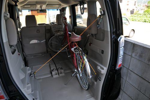 自転車を積む