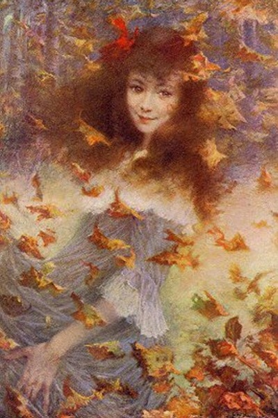 Autumn Wind Suzanne L#233;vy-Dhurmer