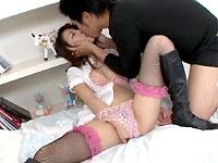 【無修正】お姉さん系愛沢ひなちゃんのエロい顔射や中出し