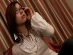 【無修正】加藤ツバキ メガネの似合う美人お姉さんが中出し3P!