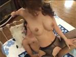 【無修正】真田春香:ロリ美巨乳パイパン結合部丸見え