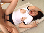【無修正】小林初花 パイパン体操服切り抜き3連続中だしファック
