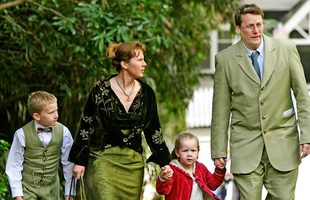Sir Richard Taylor arrives at Premier House with his family