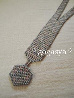 110216三角模様のネックレス