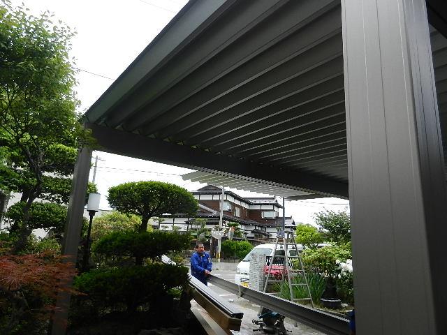 八郎潟町K様邸カーポート 012