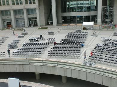 201208 第14回東京大薪能設営2